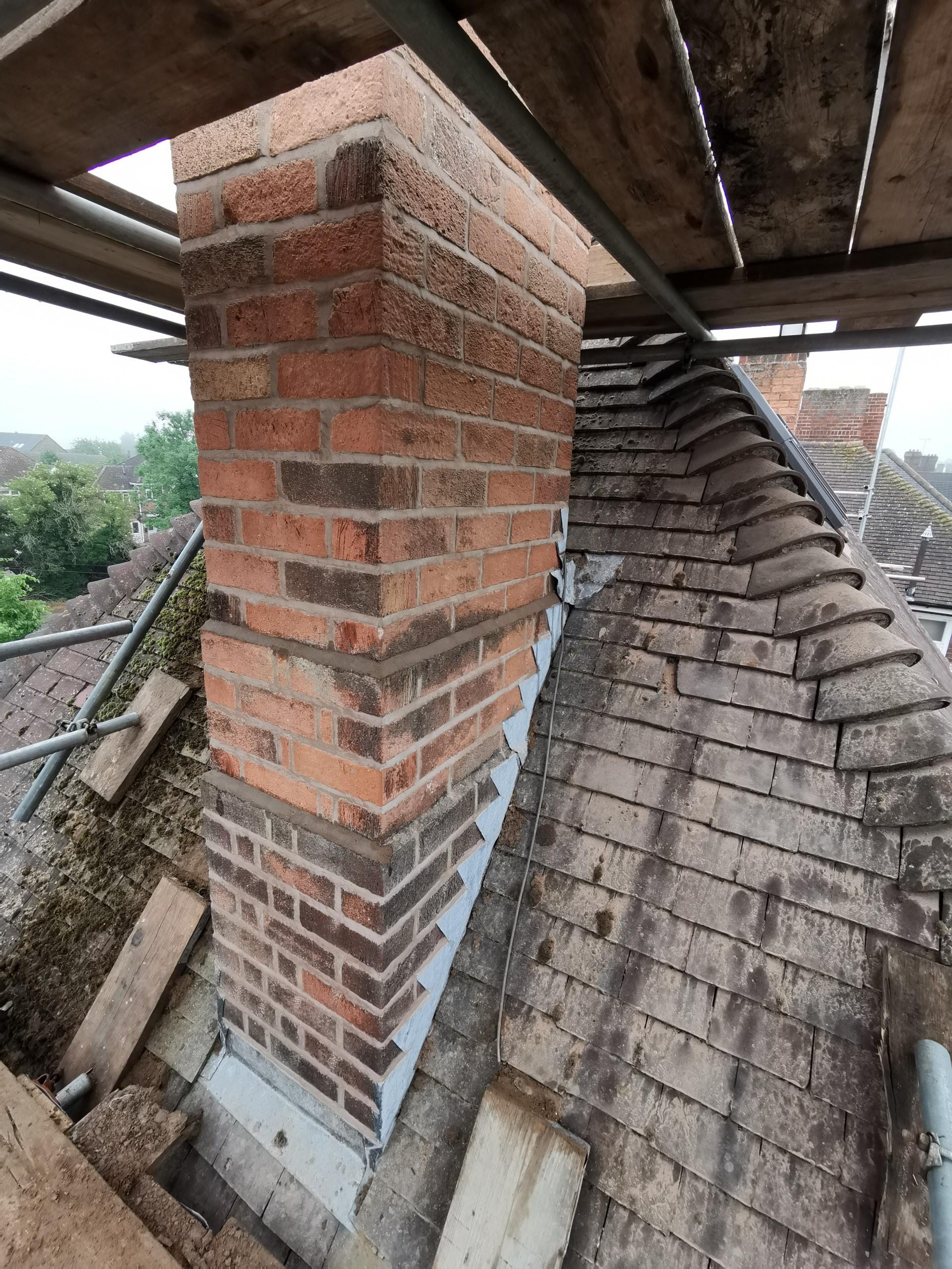 Professional set up for Chimney restoration